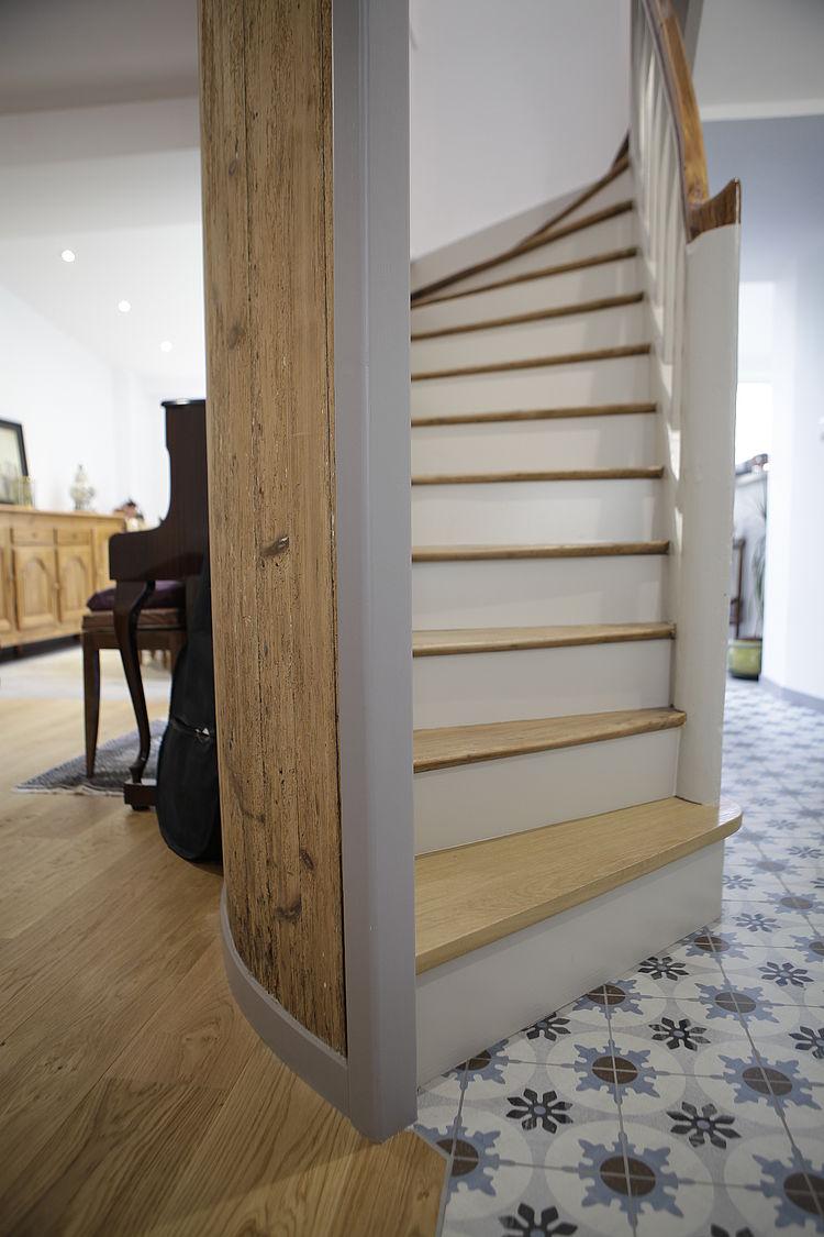 Réaménagement rénovation carrelage parquet escalier plan vue 3D extension peinture tous corps d'état Saint Brieuc Guingamp Pleneuf Val André Saint Quay Côtes d'Armor tous corps d'état