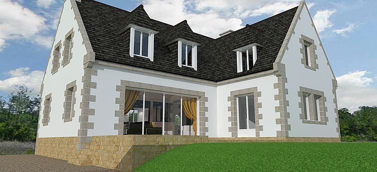 Entreprise tous corps d'état rénovation extension agencement aménagement 3D plans Côtes d'Armor Saint Brieuc