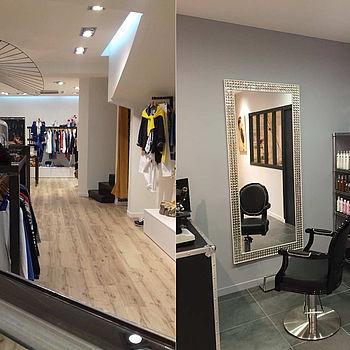 Salon coiffure magasin réaménagement rénovation décoration peinture parquet saint brieuc guingamp