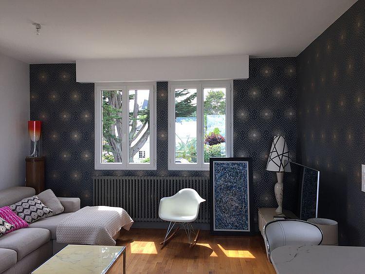 Extension rénovation entreprise tous corps d'état Côtes d'Armor Aménagement Saint Quay Portrieux Salon décoration