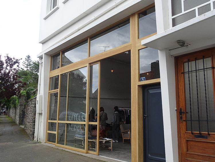 Ossature bois façade aménagement rénovation Saint Quay Portrieux mobilier verrière atelier Côtes d'Armor tous corps d'état