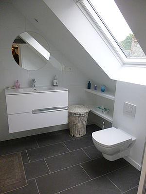 aménagement salle de bains wc finition mobilier agencement Saint brieuc Côtes d'Armor tous corps d'état peinture