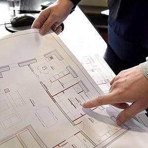plan vue 3D extension rénovation agencement mobilier salle de bains dressing Côtes d'Armor tous corps d'état